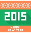 Flat new year background vector image