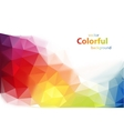Modern colorful background vector image vector image