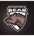Bear emblem logo for a sports team vector image