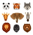 Cartoon Animals Portraits Set vector image