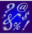 winter signs with snowflakes vector image vector image