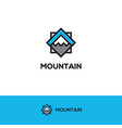 abstract geometric mountain logo vector image