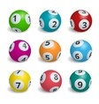 Ball lottery numbers Lotto bingo game luck vector image