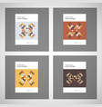 brochures design templates pattern with vector image