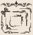 decorative-frame-set vector image