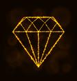 diamond silhouette of lights vector image