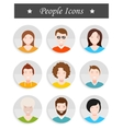 Set of avatar in style flat design vector image