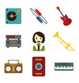 simple musical related graphic set vector image