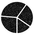 Pie Chart Grainy Texture Icon vector image