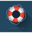 Flat Lifebuoy vector image