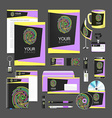 set design Gift template Corporate identity vector image