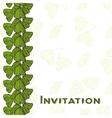 Invitation card with leaves of Ginkgo biloba vector image