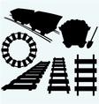 Elements of the railway vector image