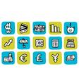 icon finance vector image