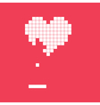 valentines day card video game heart vector image