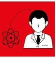doctor with atom isolated icon design vector image