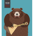 Bear was playing the balalaika Russian national vector image