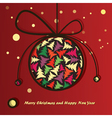 christmas ball with trees inside vector image