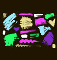 color grungy abstract hand-painted vector image