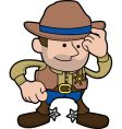 cowboy sheriff vector image