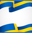 decoration of sweden insignia on white vector image