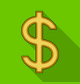 dollar signrealtor single icon in flat style vector image