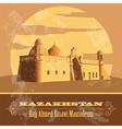 Kazakhstan Retro styled image vector image