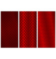 red metal perforated backgrounds brochure design vector image