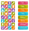 set of market signages in flat style vector image