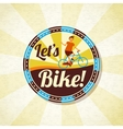 Summer bike riding retro background vector image