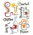 Beverages001 vector image
