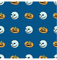 seamless pattern from pumpkins and ghosts vector image