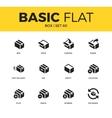 Basic set of box icons vector image