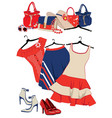 summer womens clothing and accessories vector image vector image