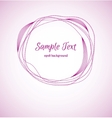 Concentric circles abstract background Sample text vector image vector image