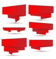 set of bright red ribbons vector image