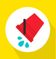 pouring water from red bucket flat vector image