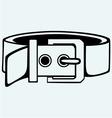 Leather belt for men vector image