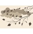 autumn birds fly south vector image