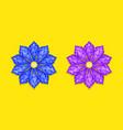 blue and purple diamond flower vector image