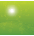 Bright Sun Burst Green Background vector image