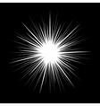 Classic Style Retro Starburst on Black Background vector image