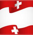 decoration of switzerland insignia on white vector image