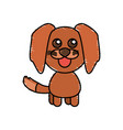 drawing dog animal character vector image