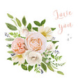 flower bouquet design object element peach pink vector image