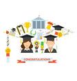 Graduation Award Elements Concept vector image