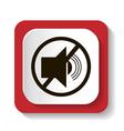 icon with symbol prohibits radiosound vector image