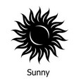 sunny icon simple style vector image