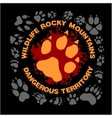 Wolf footprint emblem for t-shirt vector image