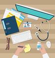 Doctor workspace vector image vector image